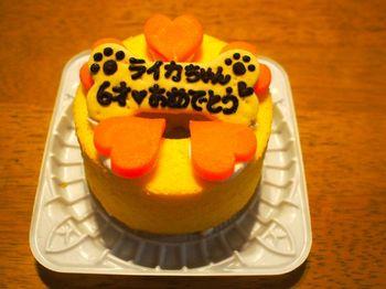 ライカ6歳ケーキ1.jpg